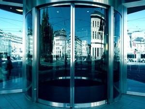 Secure Office Building Door